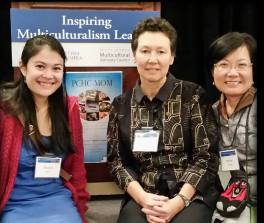 PCHC-MoM Marketing and Event Coordinator Eleanor with Directors Tineke Hellwig and Winnie Cheung