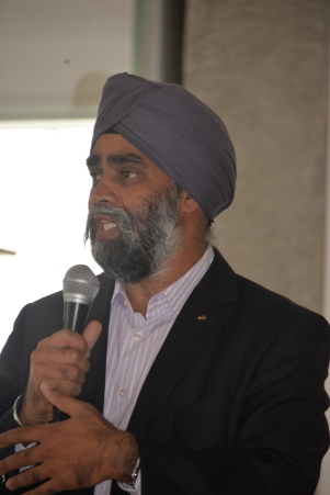Liberal Candidate Harjit Sajjan expresses support for PCHC-MoM