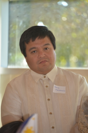 Gary Manansala of the Filipino table
