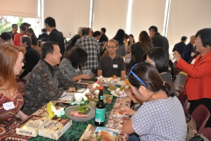 Indonesian table and Canada Indonesia Diaspora Society