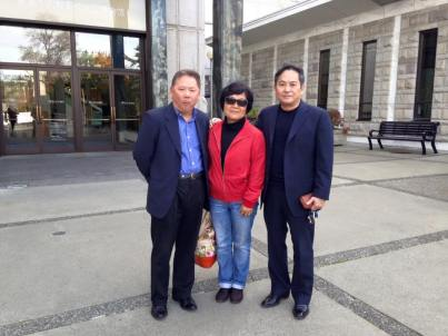 David Lin with PCHC President Winnie Cheung and Eric Lau