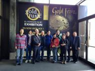 Group photo at the Gold Rush! exhibit (minus photographers Eleanor and Alick!)