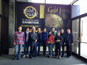 Group photo at the Gold Rush! exhibit (minus photographers Eleanor Munk and Alick Yeung!)