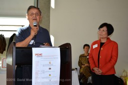 Elder Larry Grant of the Musqueam band and PCHC-MoM President Winnie Cheung