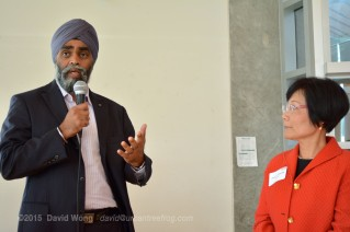 Liberal Party Candidate Harjit Sajjan with PCHC-MoM President Winnie Cheung