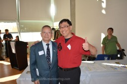 Dr. Wallace Chung with PCHC-MoM Vice President David Wong