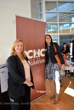 Leslie Fields and June Chow of UBC Library, PCHC-MoM's Title Sponsor
