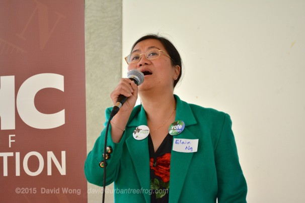 Green Party Candidate Elain Ng expresses support for PCHC-MoM's dream of a museum of migration