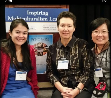 Marketing + Event Coordinator Eleanor with PCHC-MoM Directors Tineke Hellwig and Winnie Cheung at the BC Multicultural Inspirational Talks