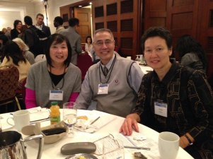 Grace Wong Sheddin of the University of Victoria, James Hseih of SFU, and Tineke Hellwig of PCHC-MoM at the BC Multicultural Inspirational Talks