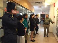 PCHC Volunteers, Members, and Directors listen to private tour of new exhibition with CCMS President King Wan
