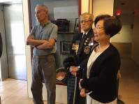 PCHC Directors George Ing and Winnie Cheung with veteran Bing Wong