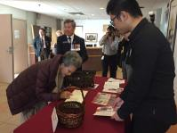 Honorary PCHC Advisor and retired Senator Vivienne Poy arrives at the Chinese Cultural Centre