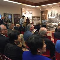 Speeches begin to launch new Chinese Canadian Military Museum exhibition on the 75th Anniversary of the Battle of Hong Kong