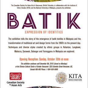 Exhibition: BATIK – Expression of Identities