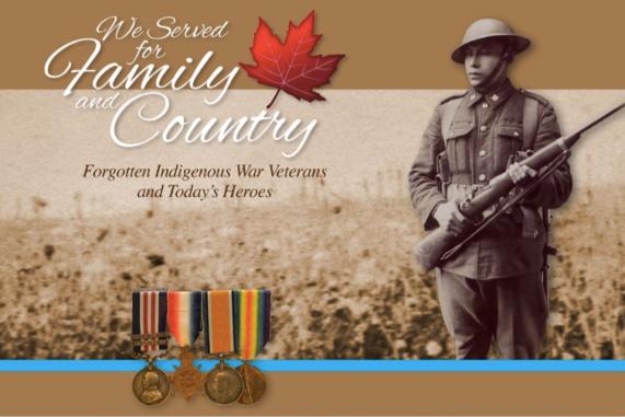 CCMMS Indigenous Veterans Exhibit Poster