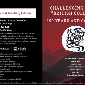"""Launch of Video and Teaching Edition – Challenging Racist """"British Columbia"""": 150 Years andCounting"""